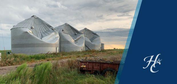 Grain silos crushed by August 2020 derecho